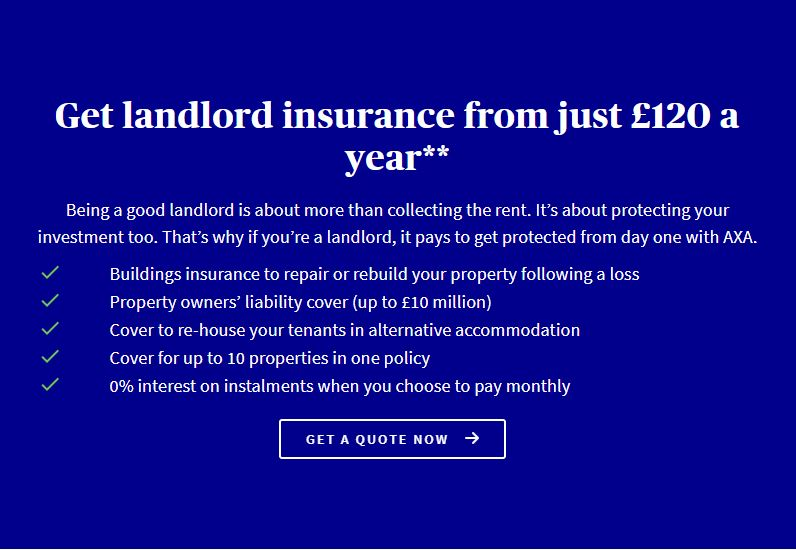 What does AXA's property owner's liability cover?
