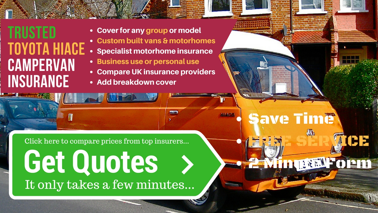 Toyota Hiace campervan insurance quotes