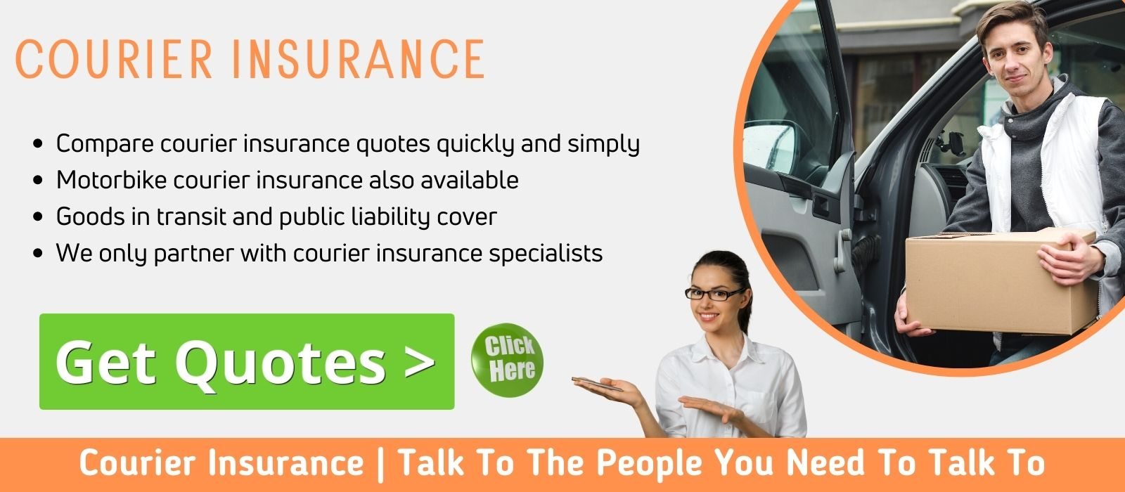 Compare courier van insurance quotes here.
