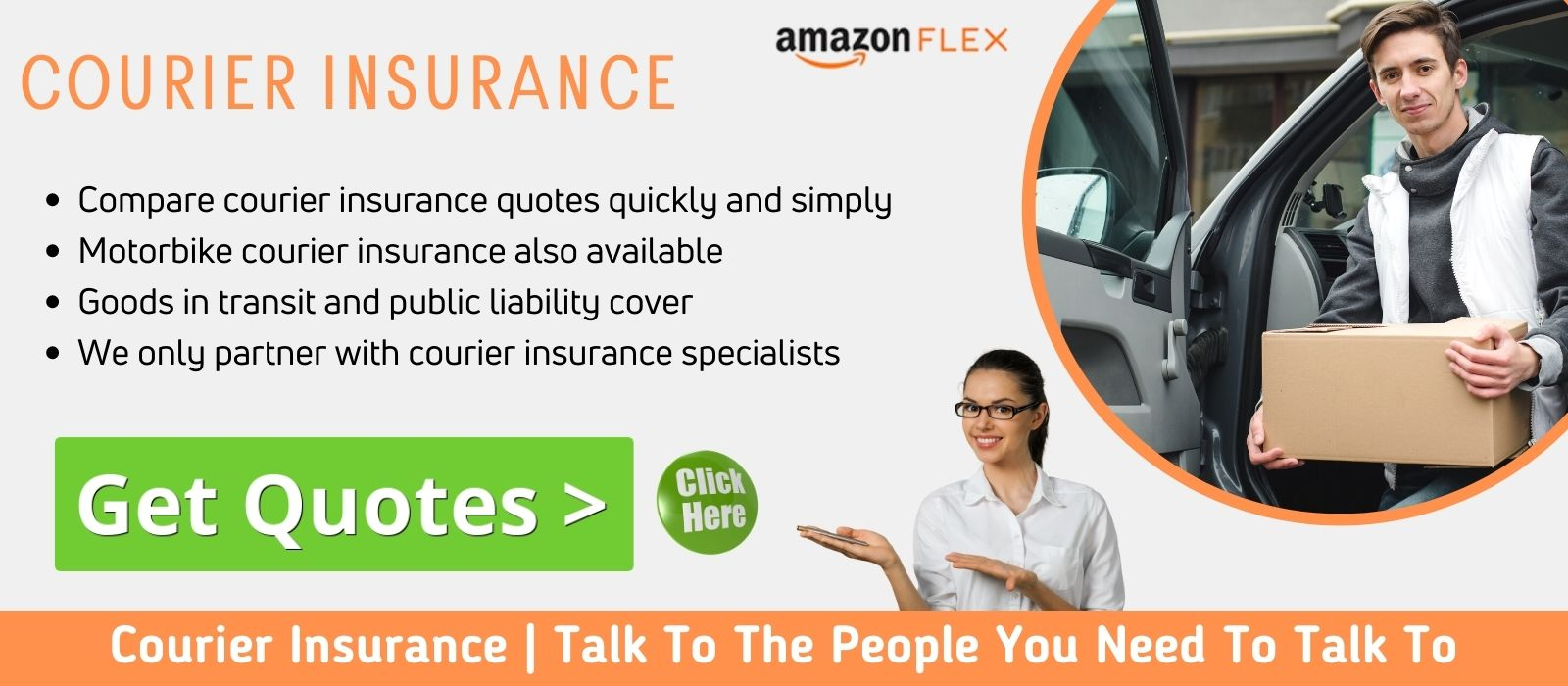 Compare courier van insurance quotes with any driver cover.
