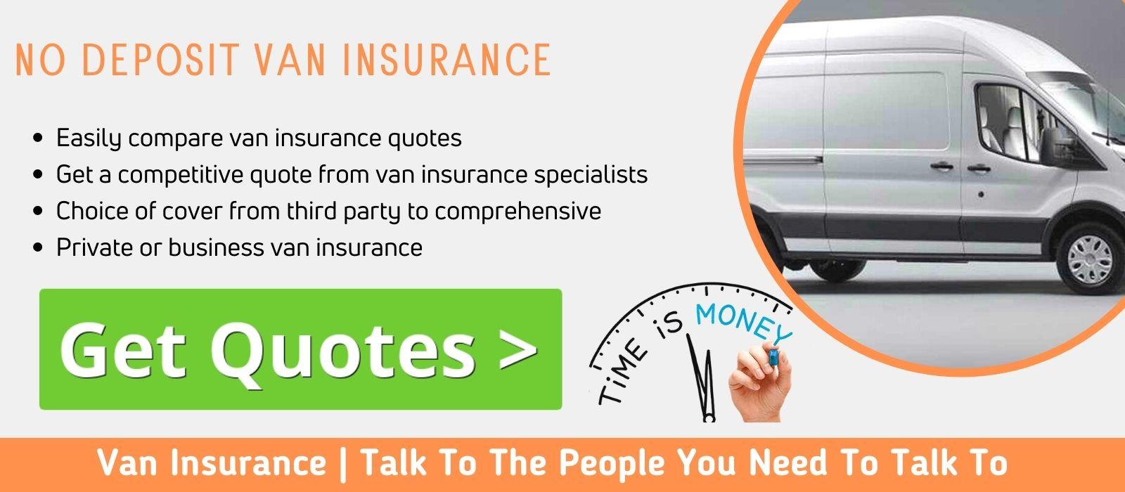 Compare No Deposit Van Insurance