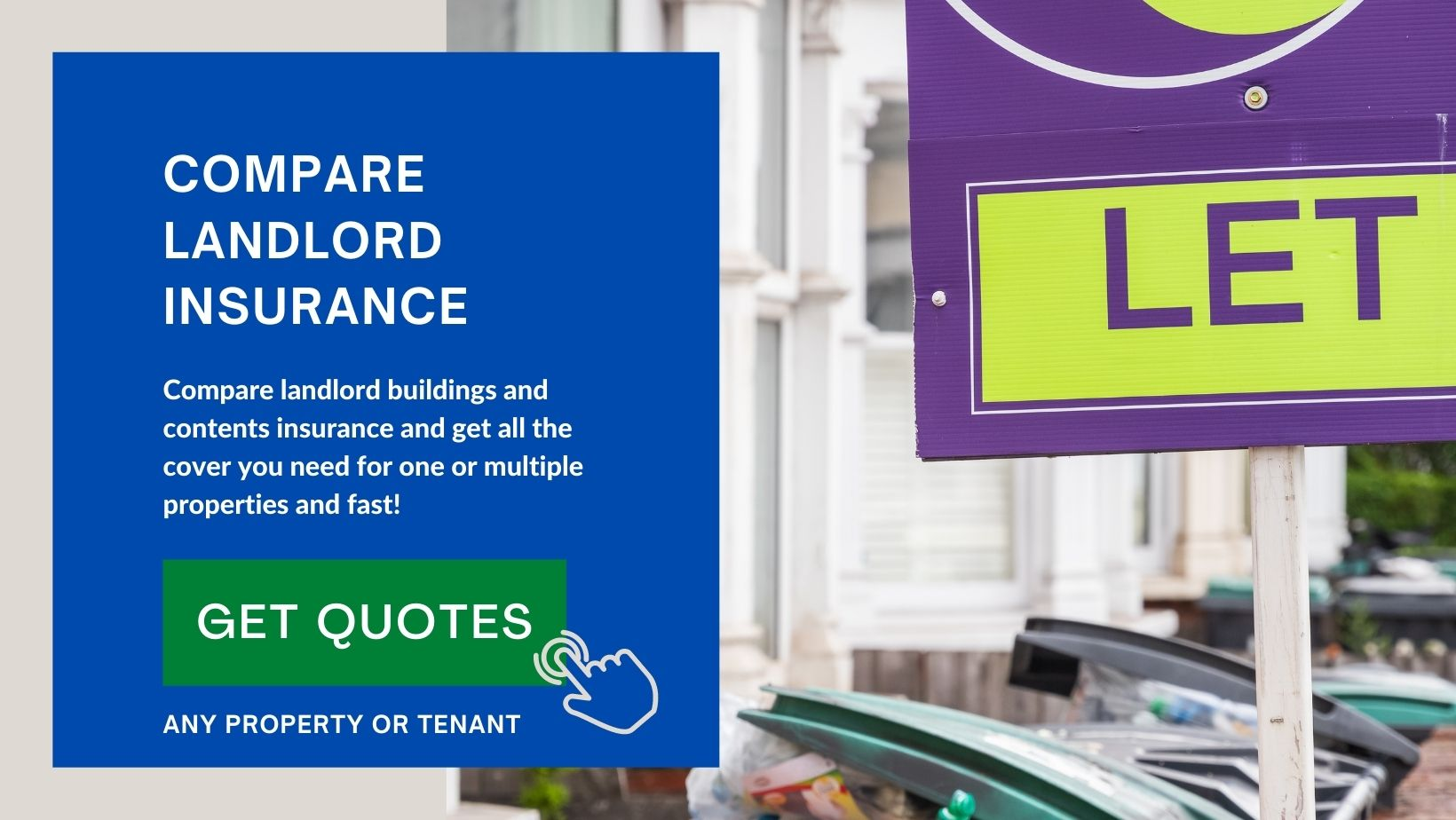 Choose the best options for your properties with landlord insurance with Quotesearcher Limited.